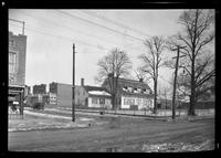 Gravesend / New Utrecht / New Lots / Canarsie: [unidentified Dutch-style house with addition and fence, in winter, undated.]