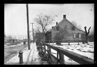 Gravesend / New Utrecht / New Lots / Canarsie: [side view of unidentified Dutch-style house in winter, undated.]