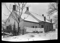 Gravesend / New Utrecht / New Lots / Canarsie: [side view of unidentified Dutch-style house with addition, in winter, undated.]