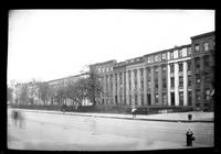 Manhattan / Brooklyn: [unidentified block of townhouses with deep front gardens, set on a wide avenue, undated.]