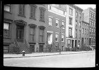Manhattan / Brooklyn: [unidentified block of varied townhouses, undated.]