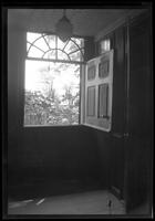 Flatlands: [interior view through half-opened Dutch door in Ryerson House, undated.]