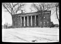 Flushing: [Flushing Institute, winter view with snow, undated.]