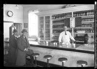 {Unidentified soda fountain interior, possibly Reid's Ice Cream, undated.]