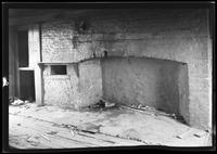 [Old brick kitchen hearth inside unidentified house (probably the Ryerson House), undated.]