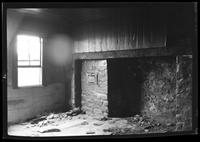 [Old brick hearth and cast iron wall oven, inside unidentified house (probably the Ryerson House), undated.]