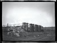 Long Island City: [Lauruich-Leverich Burial Ground (i.e. Lawrence Cemetery), south of Wolcott Avenue in line of Bartow Avenue, 1923. Emulsion damage on negative.]