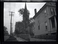 Long Island City: [unidentified church set among houses, undated.]