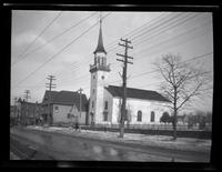 Newtown: [unidentified church and cemetery, undated.]
