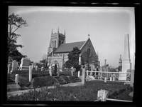 Newtown: [unidentified church and surrounding cemetery, undated.]