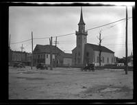 Newtown: [unidentified church with churchyard cemetery, undated.]