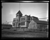 Newtown: [unidentified church (?) or meeting hall, undated.]