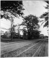 Brooklyn or Queens: Jamaica Avenue near a railroad crossing, undated.