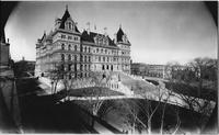 Albany, New York: front view of the New York State Capitol building, undated.