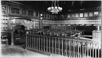 Albany, New York: interior view of a courtroom at the Court of Appeals, undated.