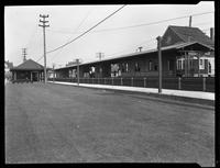 Arverne railroad station, Far Rockaway, Queens, July 6, 1920. Photographed for Joseph P. Day.