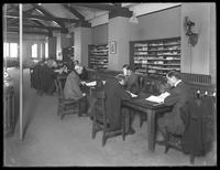 Periodicals reading room of the Montague branch of the Brooklyn Public Library, November 17, 1914.