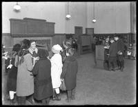 Information desk and card catalog for the children's branch of the Brownsville branch of the Brooklyn Public Library, November 23, 1914.