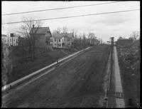 View looking east from the el station at 233rd Street and White Plains Road, Bronx, April 28, 1916. Photographed for Joseph P. Day.
