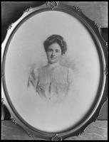 Framed photograph of Mrs. Joe Schneider, May 1, 1916. Photographed for Joe Schneider.