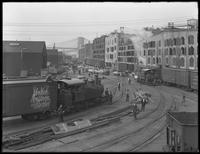 Brooklyn dock stores and rail lines looking north from Montague Street, Brooklyn, undated (ca. June 1917).
