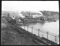 Isaac G. Johnson & Co. foundry, Spuyten Duyvil, viewed from the Bronx side ('from Schramme house'), April 6, 1918.