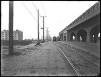 Elevated station at Beach 59th Street, Averne, Rockaway, Queens, undated (ca. December 1918). Photographed for Joseph P. Day.