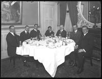 Group of unidentified men at dinner, January 30, 1919. Photographed for James R. Murphy.