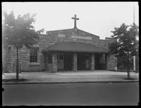 School of the Church of the Holy Spirit, on the Francis T. Lord estate (Grand Concourse, Jerome Avenue, between 180th and 181st Streets and adjacent), Bronx, undated (ca. June 1919). Photographed for Joseph P. Day.