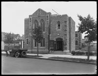 Tremont Presbyterian Church, on the Francis T. Lord estate (Grand Concourse, Jerome Avenue, between 180th and 181st Streets and adjacent), Bronx, undated (ca. June 1919). Photographed for Joseph P. Day.