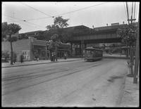 Burnside Avenue el station on the Francis T. Lord estate (Grand Concourse, Jerome Avenue, between 180th and 181st Streets and adjacent), Bronx, undated (ca. June 1919). Photographed for Joseph P. Day.