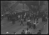 Van Cortlandt Park crowds at 242nd Street subway station, Bronx, June 7, 1914. Photographed for Joseph P. Day.