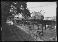 Unidentified upper Manhattan elevated subway station, undated (ca. 1916).