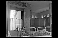 Crag Inch Lodge, Pollepel Island : interior view of the residence : bedroom. New York, undated.