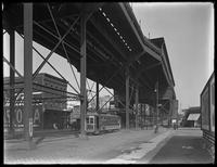 Intervale Avenue elevated train station on Westchester Avenue, Bronx, undated (ca. October 1919).