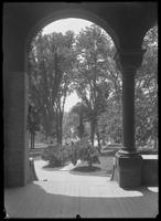 View from entry looking out, Webb's Academy and Home for Shipbulders, Bronx, undated (ca. June 1915).