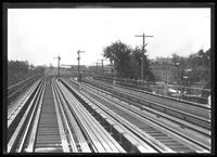 View of the Jerome Avenue IRT line looking south from 170th Street to the 167th Street station, Bronx, undated [ca. August 1918]. Probably photographed for the Interborough Rapid Transit Company.