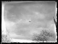 Italian warplane over Central Park during Liberty Day celebrations, New York City, October 25, 1917.