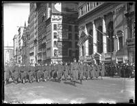 New York's Own' 308th Infantry, United States Army, on parade on Fifth Avenue, New York City, February 4, 1918.