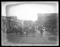 Army band on parade to mark the Third Liberty Loan, Baltimore, Maryland, undated (1918).