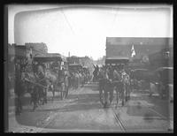 Red Cross carriages in a parade to mark the Third Liberty Loan, Baltimore, Maryland, undated (1918).
