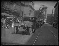 'U.S. Marine Corps 2' car driving in a victory parade, Washington D.C., undated (1918).