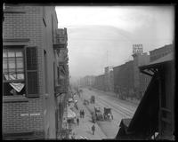View of W. 42nd Street from the Ninth Avenue El station, New York City, undated (ca. 1900-1910).