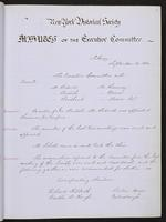 Minutes of the Executive Committee of the New-York Historical Society, 1852-1862, minutes of September 14, 1852
