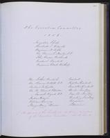 Minutes of the Executive Committee of the New-York Historical Society, 1852-1862, page 101, members of the Executive Committee, 1856