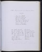 Minutes of the Executive Committee of the New-York Historical Society, 1852-1862, page 125, members of the Executive Committee, 1857