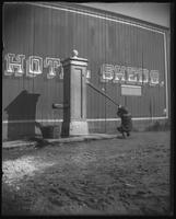 Unidentified boy using Weissbein's roadhouse pump well, Caton Street, Brooklyn, New York City, November 1, 1898.