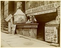 45 E. Houston Street, New York City, undated [c. 1897-1901]. Louis Klepper Confectionary, hat and sausage manufacturers.