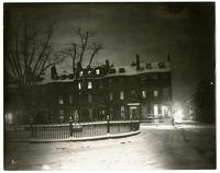 Louisburg Square, Boston. Jenny Lind lived in corner house.