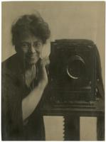 Jessie Tarbox Beals, self-portrait with camera.